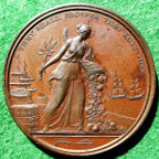 Napoleonic Wars, Peace of Amiens Preliminaries 1801, bronze medal by H Kettle