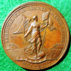 Anne, Minorca and Sardinia captured 1708, bronze medal