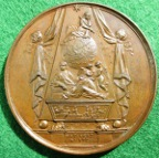 Issaac Newton medal 1727 by Dassier