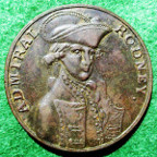 Admiral Rodney, Capture of St Eustatia, Saba & St Martins from the Dutch 1781, bronze medal