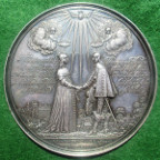 Princess Mary, Marriage to William II of Orange 1641, large silver medal