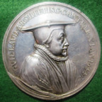 Archbishop Laud, execution 1645, large silver memorial medal by John Roettier