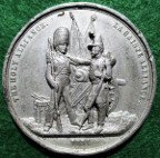 "Crimean War, France and England, ""The Holy Alliance"" 1854, white metal medal"
