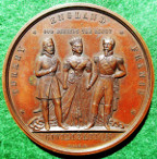 The Crimean War, Franco-British Alliance with Turkey 1854, bronze medal by A Caqué