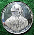 Admiral Duncan, The Battle of Camperdown 1797, white metal medal by T Wyon