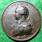 George III Preserved from Assassination 1800, bronze medal by Conrad Küchler