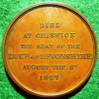 George Canning, death at Chiswick 1827, bronze medal