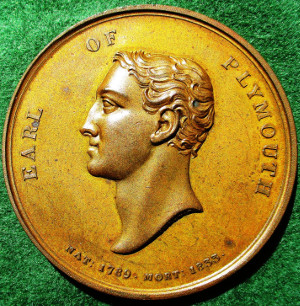 Earl of Plymouth, death 1833, bronze medal