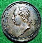 George III, Protector of the Arts 1760, silver medal by J Pingo
