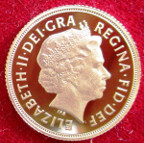 Elizabeth II, gold proof Sovereign 2009