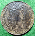 James II, Coronation 1685, official silver medal by J Roettier