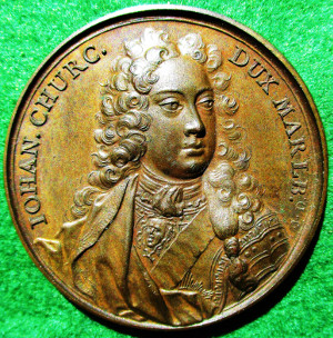 John Churchill, first Duke of Marlborough, death 1722, bronze medal by J Dassie