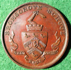 Worcestershire, Bromsgrove School, bronze prize medal awarded 1905