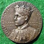 Prince Edward, Investiture as Prince of Wales 1911, silver medal by Sir William Goscombe John