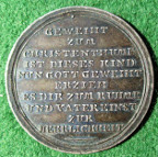 Germany, Christening medal, silver, 18th  century