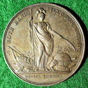 Jernegan's Lottery Medal 1736, silver