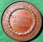 Northampton, Stimpson Avenue School, Attendance & Good Conduct Medal, awarded 1913, bronze