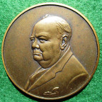 Peace in Europe, 25th Anniversary 1970, Churchill bronze medal