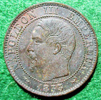 France, Napoleon III, Visit to Lille Bourse 1853, bronze medal