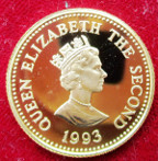 Alderney, Elizabeth II, gold proof £25 1993, for 40th Anniversary of the Coronation