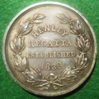 Oxfordshire, Henley Regatta established 1839, silver prize medal, 19th century