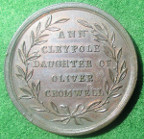 Elizabeth Claypole (1629-1658), second daughter of Oliver Cromwell, bronze medal c. 1750