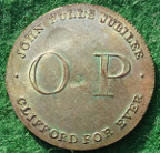 London, Covent Garden Theatre, Old Price medal 1809, silvered brass
