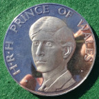 Prince Charles, Investiture as Prince of Wales 1969, Britannia  silver medal
