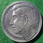 Prince Charles, Investiture as Prince of Wales 1969, silver medal, by E Fey