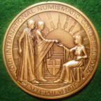 Royal Numismatic Society Sesquicentenary (150 Years) 1986 and Tenth International Numismatic Congress 1986, bronze medal by Robert Elderton