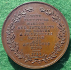 William Pitt (the Younger), First Lord of the Treasury (Prime Minister) 1799, bronze medal