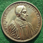 William Sancroft, Archbishop of Canterbury, and the Seven Bishops against James II's 'Declaration of Indulgence' 1688, cast silver-gilt medal