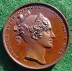 William IV, Coronation 1831, official medal in bronze by Benedetto Pistrucci