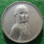 Napoleonic Wars, Archduke Charles of Austria, Allied Commander in Germany 1797, white metal medal