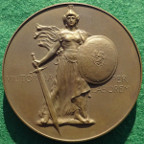 Great War, David Lloyd George, Prime Minister 1917, large bronze medal by Frank Bowcher