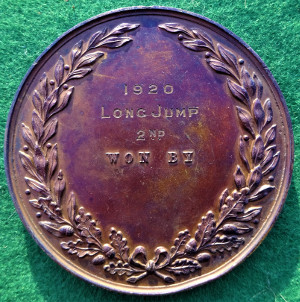 Medicine, London, United Hospitals Athletic Club, large bronze prize medal