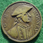 Admiral Rodney, Capture of St Eustatia from the Dutch 1781, brass medal
