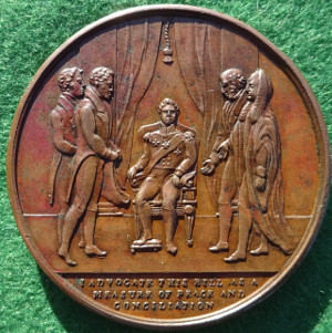 William IV, Reform Bill 1832, bronze medal