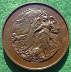 Theatre, Sir Augustus Harris, actor and London theatre owner, bronze laudatory medal 1891, by E Lanteri