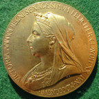 Victoria, Diamond Jubilee 1897, official medal by G W de Saulles, in bronze-gilt