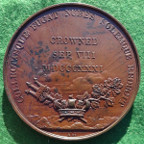 William IV, Coronation 1831, large bronze medal by W Wyon