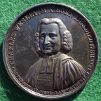 Centenary of Wesleyan Methodism 1839, silver medal by C F Carter