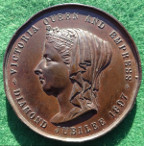 Lancaster, Victoria's Diamond Jubilee 1897, Arts & Crafts Exhibition medal, Lady Bective president, bronze medal
