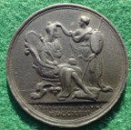 George I, Coronation 1714, official  bronze medal by J Croker