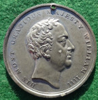 William IV, Coronation 1831, white metal medal by T Halliday