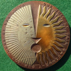France, 'Joy and Peace' 1980, large heavy bronze medal