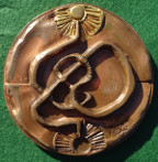 France, 'Itinerary' 1976, large heavy bronze medal