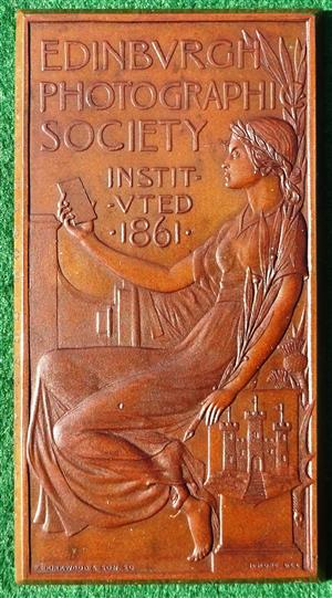 Scotland, Edinburgh Photographic Society established 1861, bronze prize medal
