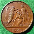 Crystal Palace, Great Exhibition 1851, Juror's Medal, bronze, by W Wyon & G G Adams