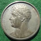 George IV (as Regent), England Gives Peace to the World 1814, white metal medal